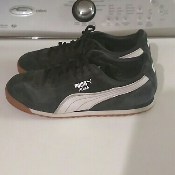 new products 77ee6 d0dbe Mens puma roma navy blue suede shoes sz 11.5 EUC